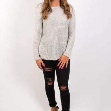 BB Dakota Tierny Marled Yarn Sweater - Fog