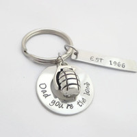 Dad Key Chain,Personalized Grenade Charm Key Chain, Dad You're The Bomb, Funny Gift For Dad Step Dad From Daughter Son Wife