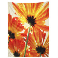 Shannon Clark Orange Daisies Tapestry