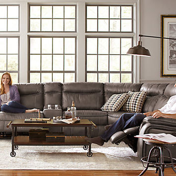 Cindy Crawford Home Barton Springs Gray 6 Pc Sectional