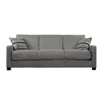 Trace Convert-a-Couch Sage Green Microfiber Futon Sofa Sleeper | Overstock.com