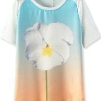 Easy Floral Tee - OASAP.com