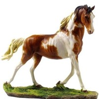 Galloping Pinto Horse Statue - 8341