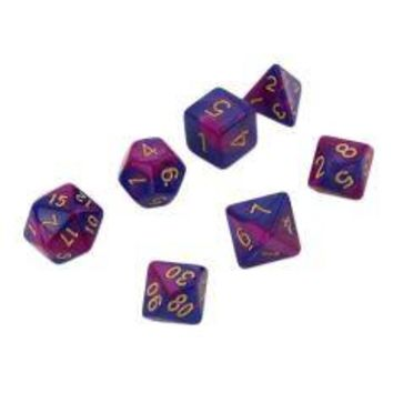 7pcs Dual-Color Dices D4 D6 D8 D10 D12 D20 Multi Sided Game Role Playing Multi-faceted Colored Dices Functional Unique Dice