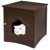 Walmart.com: Homezone Kitty Litter House, Espresso: Cats