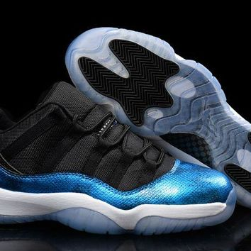 Shop Air Jordan 11 (xi) Low Blue Snake Custom - Beauty Ticks