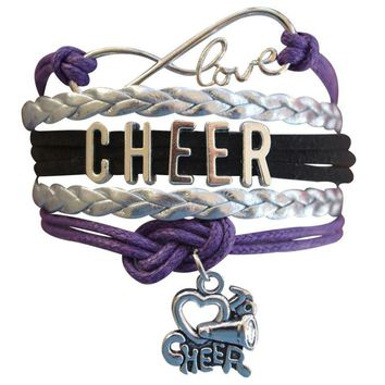 Cheer Infinity Bracelet - Purple