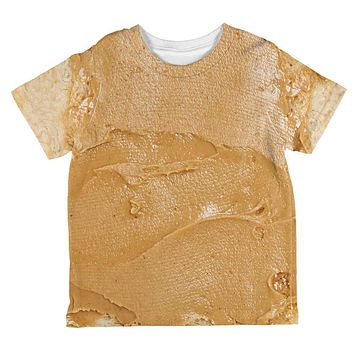 Halloween Peanut Butter PB Sandwich Costume All Over Toddler T Shirt