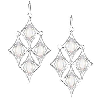 Taryn Chandelier Earrings in Silver - Kendra Scott Jewelry