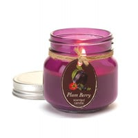 Plum Berry Mason Jar Candle