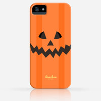 Halloween Pumpkin Face iPhone 4 Case, iPhone 4s Case, iPhone 5 Case, iPhone 5s Case, iPhone Hard Plastic Case