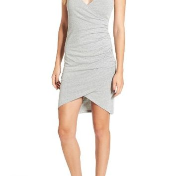 Leith Ruched Wrap Front Tank Dress | Nordstrom