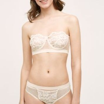 Else Lingerie Else Petunia Strapless Bra in Cream Size:
