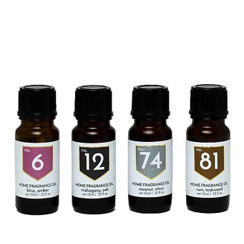 Exotic Scented Home Fragrance Diffuser Oils Gift Set