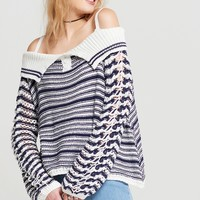Tifany Knitted Cold Shoulder Top Discover the latest fashion trends online at storets.com