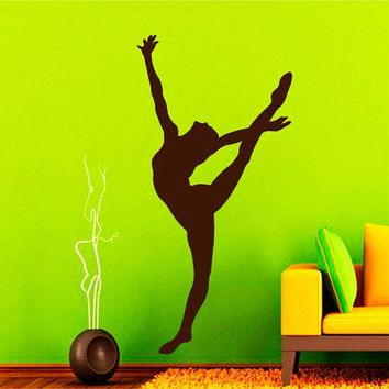 ik2289 Wall Decal Sticker gymnast girl dance pose beautiful living room bedroom gym