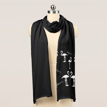 Stylish and Funky Together Flamingo Pair Scarf