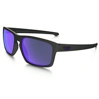Oakley Sunglasses - Sliver - Matte Black Violet Iridium Polarized OO9262-10