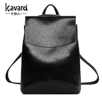 Leather Convertible Backpack for Women by Kavard