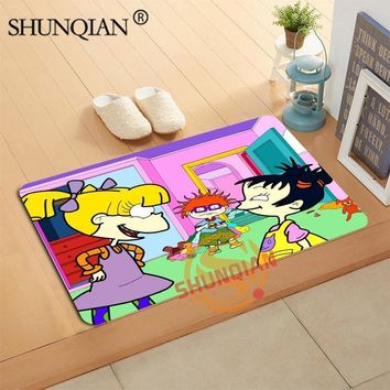 Autumn Fall welcome door mat doormat The Rugrats Movie  Custom Your Mats Print slip-resistant  Floor Bedroom Living Room Rugs 40x60cm 50x80cm AT_76_7