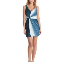ERIN erin fetherston Women's Twist And Tied Sleeveless Ruched Cocktail Dress, Grenadine Ombre, 2