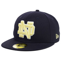 Notre Dame Fighting Irish NCAA AC Stock 59FIFTY Cap - http://www.kqzyfj.com/click-7710548-11191294?url=http%3A%2F%2Fshop.neweracap.com%2FNCAA%2FNotre-Dame-Fighting-Irish%2F20398276 / Navy / 100% Wool, Woven