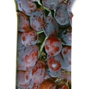 Printed Grapes Wine Tote Bag, Insulated Neoprene Fabric, Christmas Gift