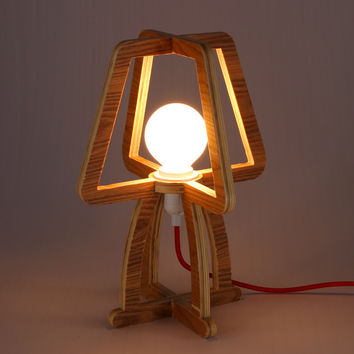 Modern Classic Lamp-a décor item for the discerning. The Beauty Of Natural Willow Wood