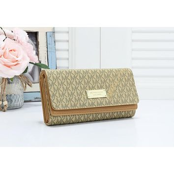 Michael Kors MK Women New Fashion More Letter Leather Wallet Purse