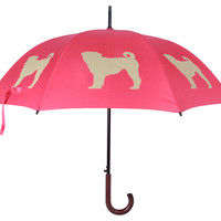 Walking Stick Umbrella, Pug, Stick