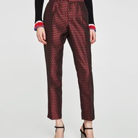 JACQUARD TROUSERS WITH SIDE STRIPES