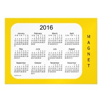 2016 Gold Calendar by Janz 7x5 Magnet Magnetic Invitations