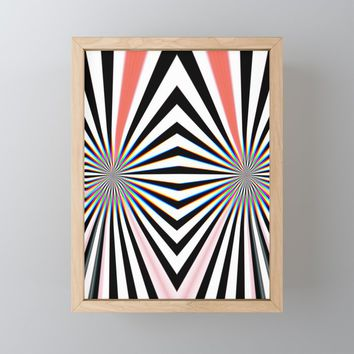 Hypno Framed Mini Art Print by duckyb