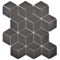 Merola Tile Metro Rhombus Matte Grey 10-1/2 in. x 12-1/8 in. x 5 mm Porcelain Mosaic Tile (9.04 sq. ft. / case)-FMTRHOMG - The Home Depot