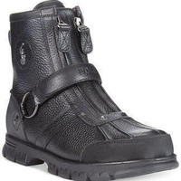 Polo Ralph Lauren Conquest High Duck Boots Black color Mens Boot