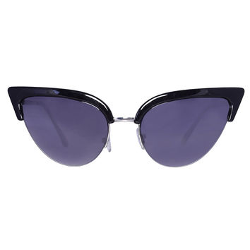 Future Cat Eye Sunglasses - Black