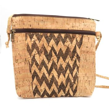 Natural cork body cross square cork Bags Messenger bag original handmade Eco vegan Portugal Bag-188