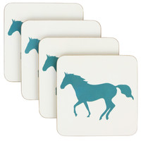 Anorak Horse Coaster Set