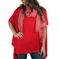 Red-dy to Roll tunic- Red | MACA Boutique