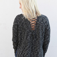 White Christmas Sweater {Charcoal}