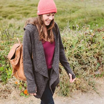 Black Sheep Wrap Sweater | Women's Wool Sweater | Betabrand