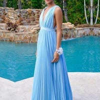 Simple Chiffon Summer Beach Bridesmaid Dresses 2017 A Line Empire Deep V Neck Wedding Party Guest Wear First Maid Of Honor Gowns