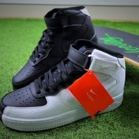 Nike Air Force 1 High Split Black White Sport Shoes Sneaker - Best Online Sale