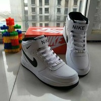 """Nike Air Force 1"" Unisex Sport Casual Letter High Help Shoes Sneakers Couple Plate Sh"
