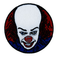 Pennywise Scary Clown Patch Iron on Applique Alternative Clothing Stephen King It