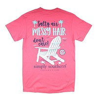 Preppy Messy Tee by Simply Southern
