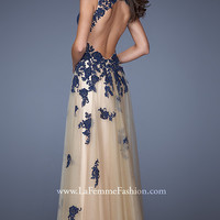 Full Length Sweetheart Open Back Gown