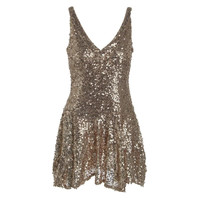 Guess Womens Eloise Sequined Sleeveless Party Dress