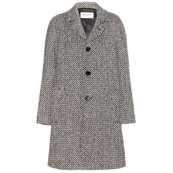 saint laurent - tweed coat