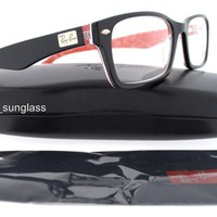 RAY-BAN RB RX 5206 2479 54MM BLACK RED EYEGLASS OPTICAL PRESCRIPTION NEW